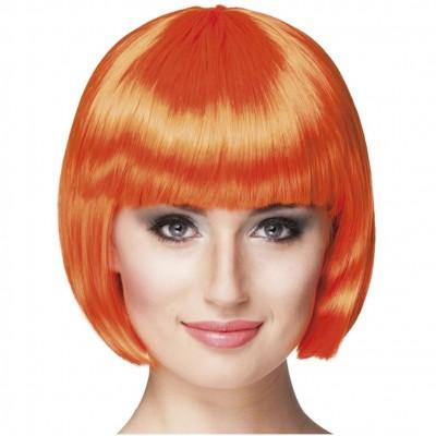 Parrucca a caschetto arancione