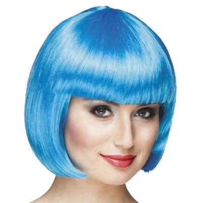 Parrucca a caschetto azzurra