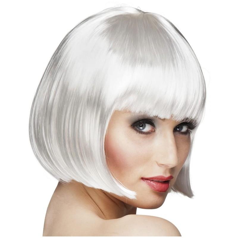 Parrucca a caschetto bianca