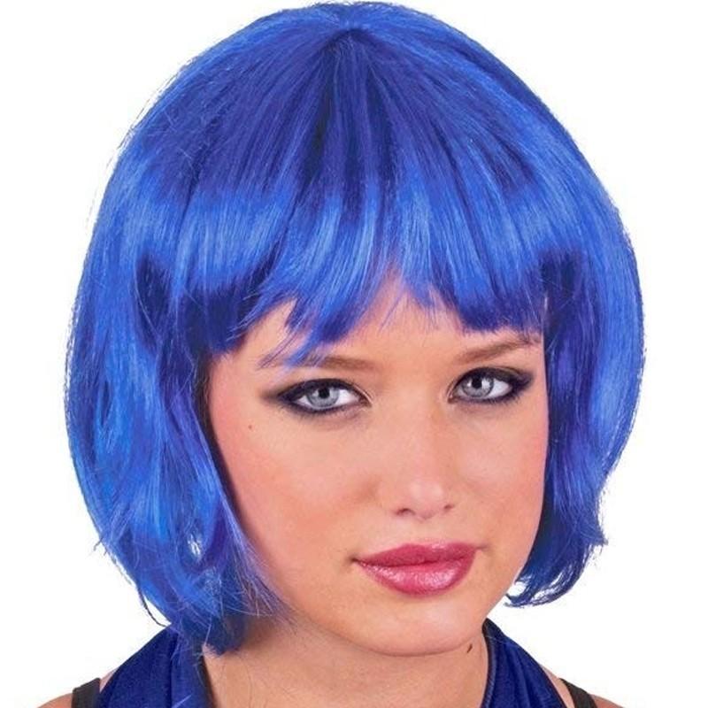 Parrucca a caschetto blu'