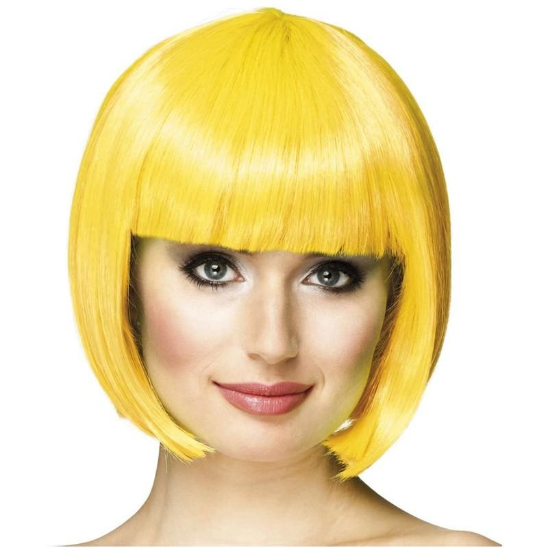 Parrucca a caschetto gialla