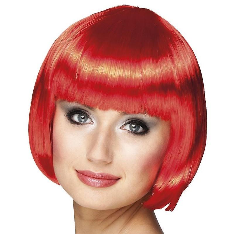 Parrucca a caschetto rossa