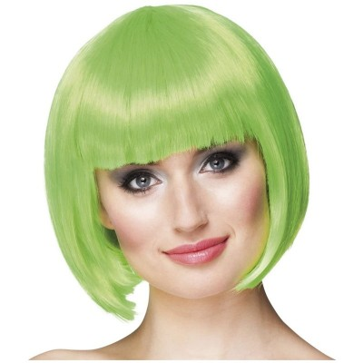 Parrucca a caschetto verde