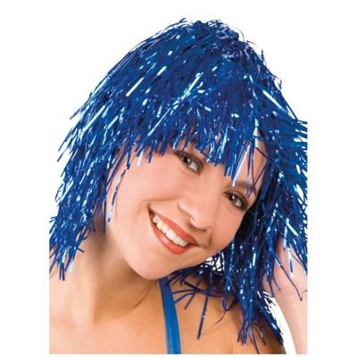 Parrucca metallizzata blu'