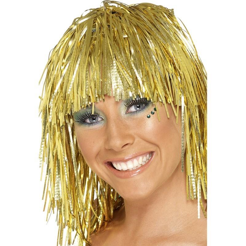 Parrucca metallizzata oro