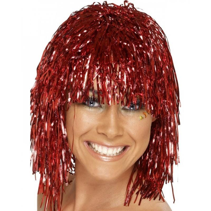 Parrucca metallizzata rossa