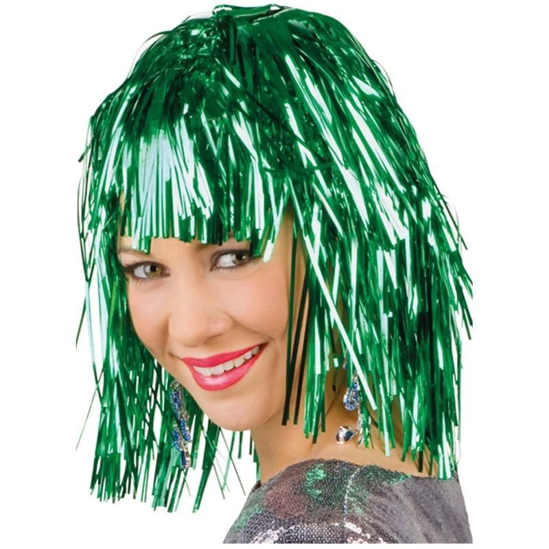 Parrucca metallizzata verde