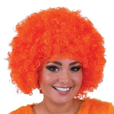 Parrucca riccia arancione