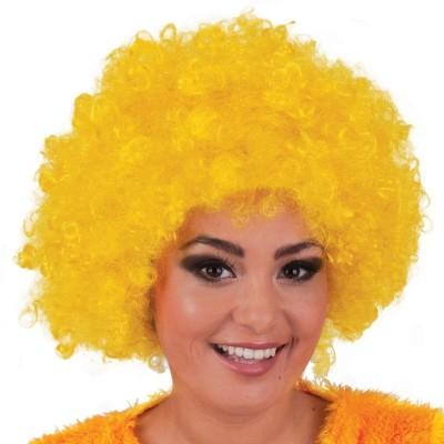 Parrucca riccia gialla