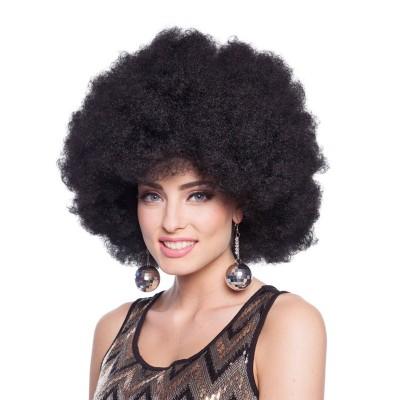 Parrucca riccia maxi nera