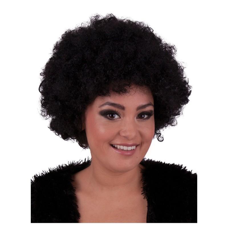 Parrucca riccia nera