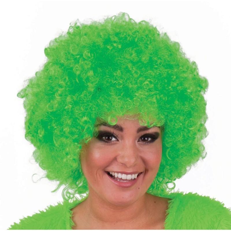 Parrucca riccia verde