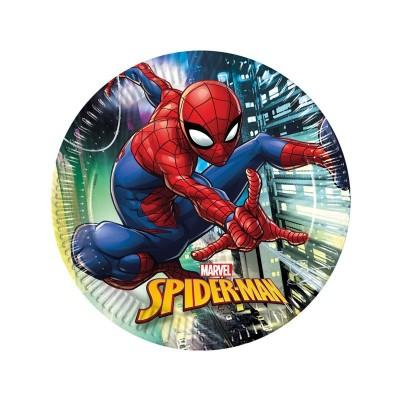 Piatti Spiderman 23 cm - 8 pz