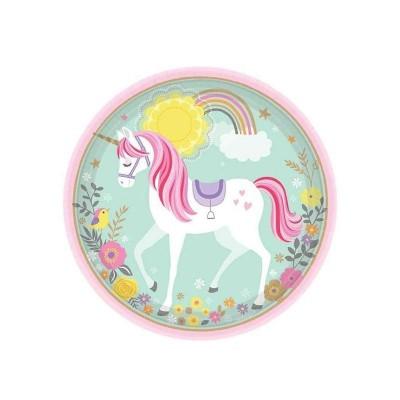 Piatti Unicorno 23 cm - 8 pz