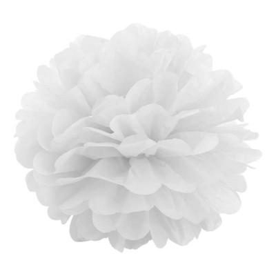 Pom pom di carta bianco 30 cm
