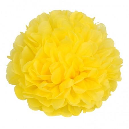 Pom pom di carta giallo 30 cm