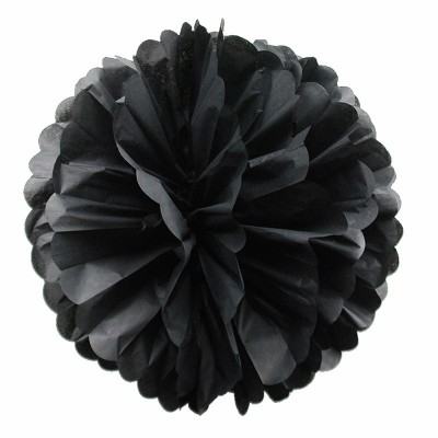 Pom pom di carta nero 30 cm