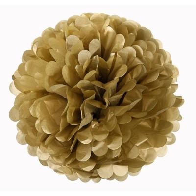 Pom pom di carta oro 30 cm