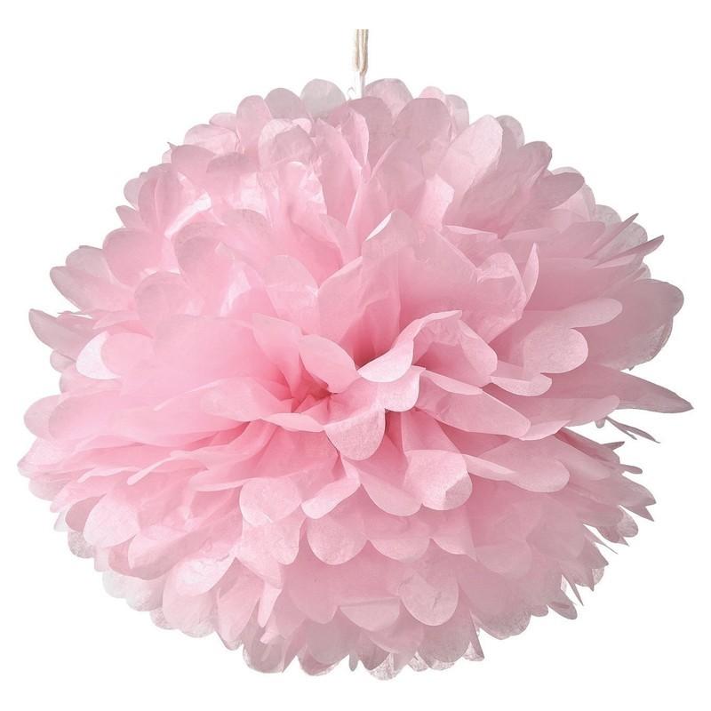 Pom pom di carta rosa 30 cm