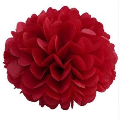 Pom pom di carta rosso 30 cm
