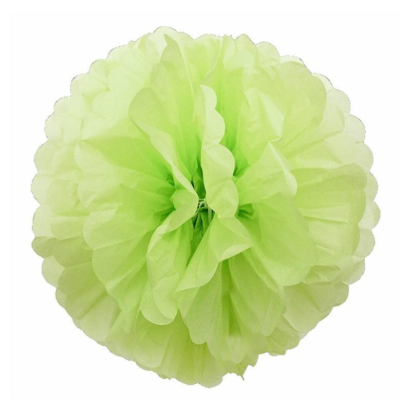 Pom pom di carta verde lime 30 cm