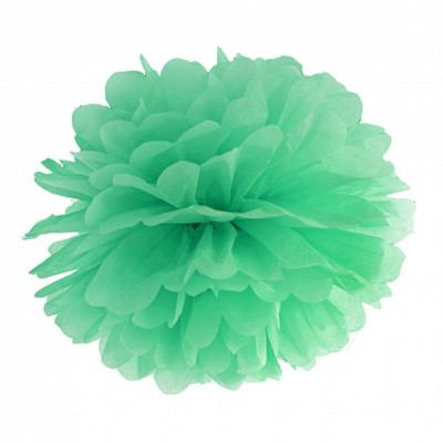 Pom pom di carta verde menta 30 cm