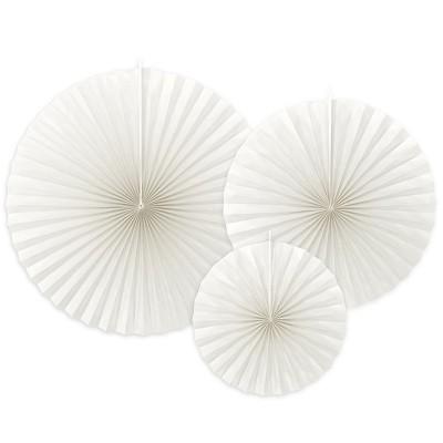 Rosoni in carta bianchi - 3 pz