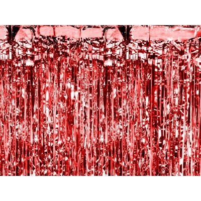Tenda decorativa con frange rosso