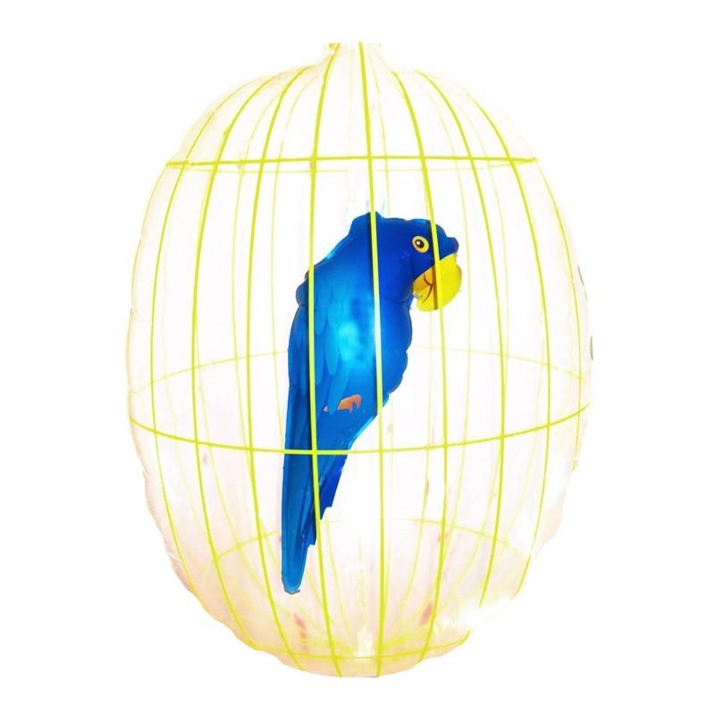 Pappagallo in gabbia