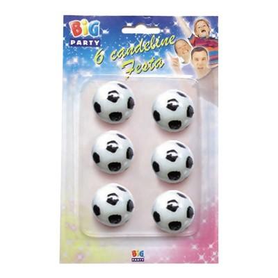 Candeline Pallone da Calcio - 6 pz