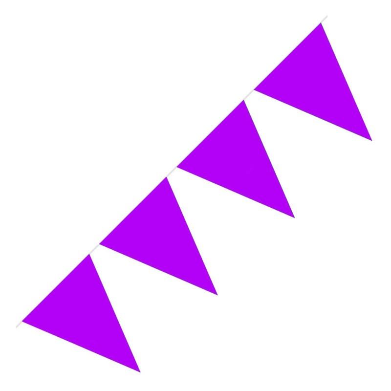 Festone PVC Monocolore Viola 5 mt