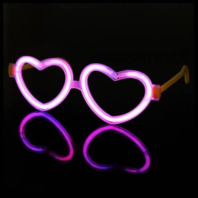 Kit Occhiali luminosi a cuore rosa - 50 pz