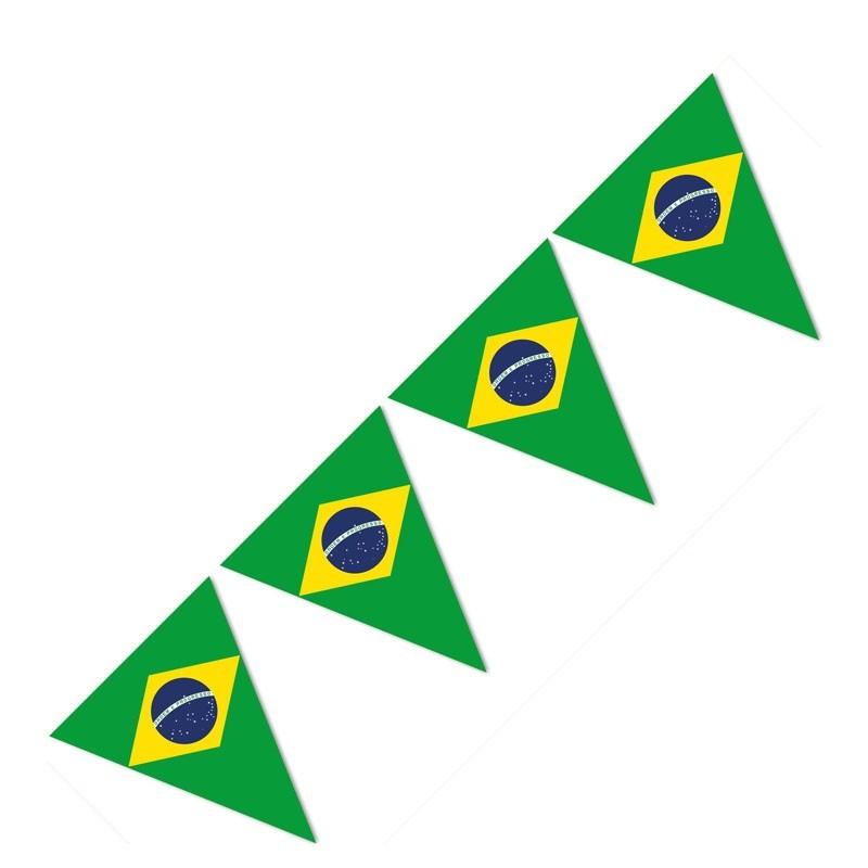 Festone PVC Bandierine Brasile - 9.5 mt