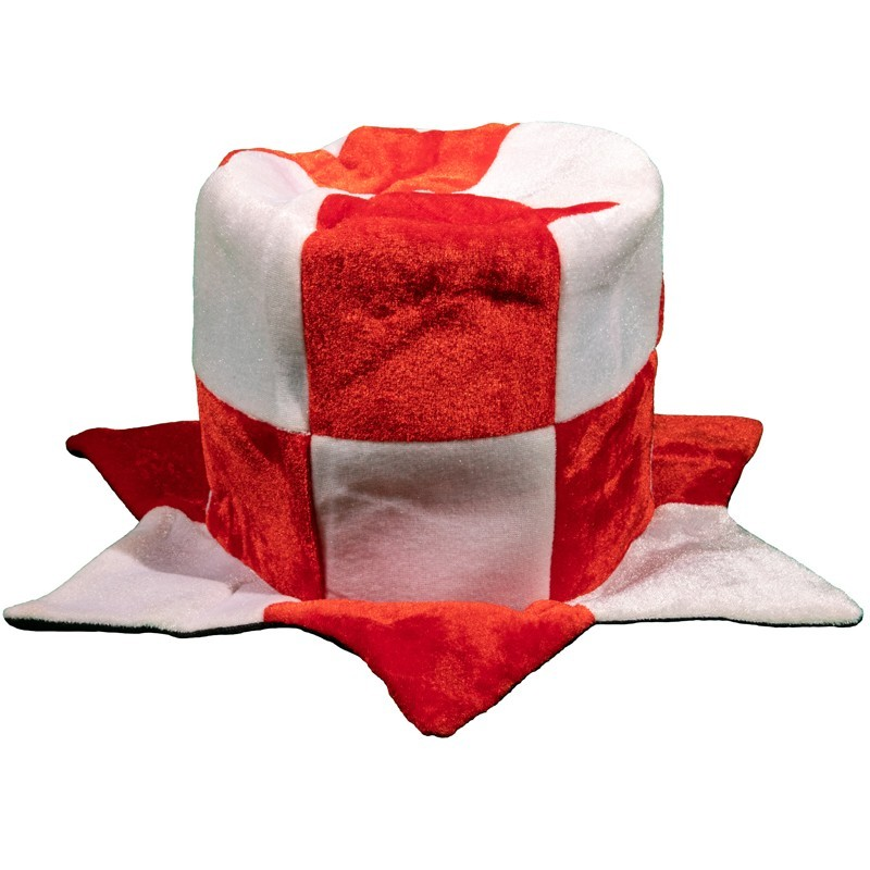 Cappello a cilindro biancorosso