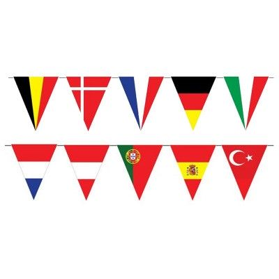 Festone PVC bandiere europee - mt 5