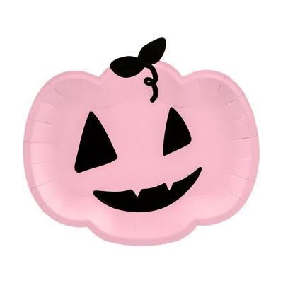 Piatti Halloween Zucca rosa - 6 pz