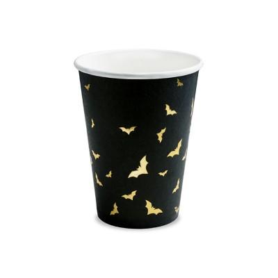 Bicchieri neri pipistrelli - 6 pz