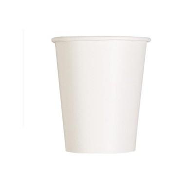 Bicchieri carta bianchi - 14 pz