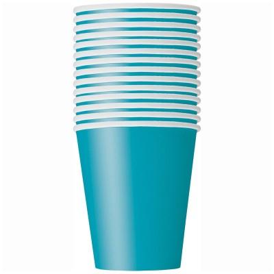 Bicchieri carta verde acqua - 14 pz