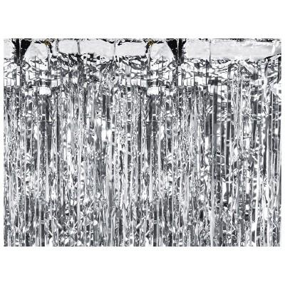 Tenda decorativa con frange argento