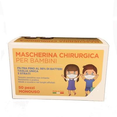 Mascherina Chirurgica BIMBO Celeste - 10 pz