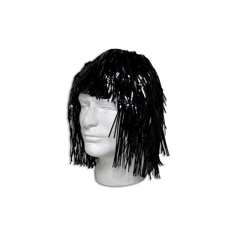 Parrucca metallizzata nera