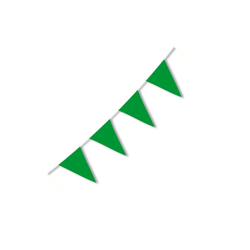 Festone PVC Monocolore Verde 10 mt